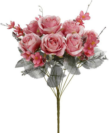 Silver and Pink Rose Mix