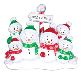 6 SNOWMAN FAMILY - OR967-6