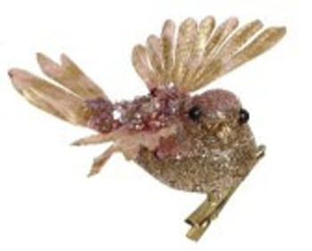 Birds of a Feather Gold Hummingbird Clip by Mark Roberts