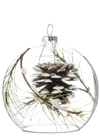 PINECONE INSIDE GLASS DOME