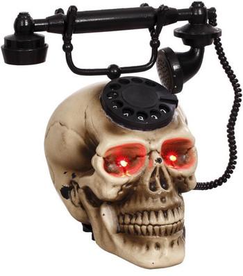 ANIMATED SKULL TELEPHONE