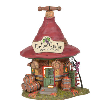 In Witch Hallow, Celia runs the wine cellar, with the expertise that only an older witch can. Friends join, and new stories are added to their shared history. Outside, vines are tended, bottles are stored, and barrels lay aging on the cool ground.