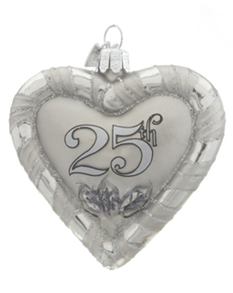 25th anniversary ornament by heart gifts