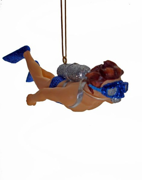 Mr. Diver Christmas ornament is a classic celebrating the love of scuba diving 90334