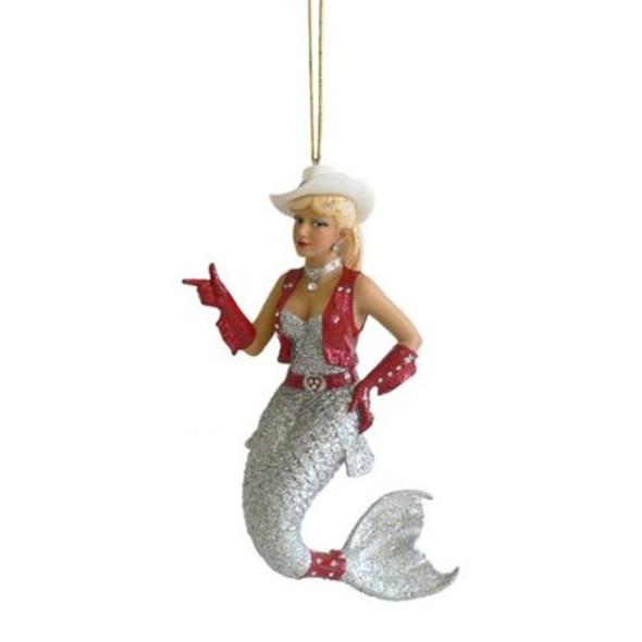 rhinestone cowgirl mermaid ornament by december diamonds  90747