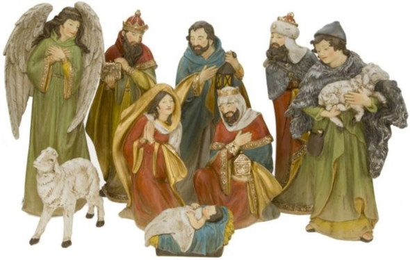 Nativity, Nativity Scene, Set of 9, Mark Roberts, Collectible