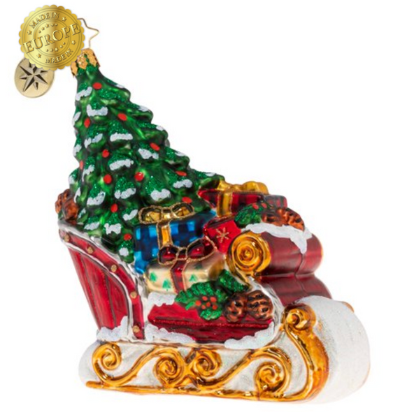 This sleigh is packed tight, but it doesn't have far to go. That's good news, because it's carrying lots of precious cargo!