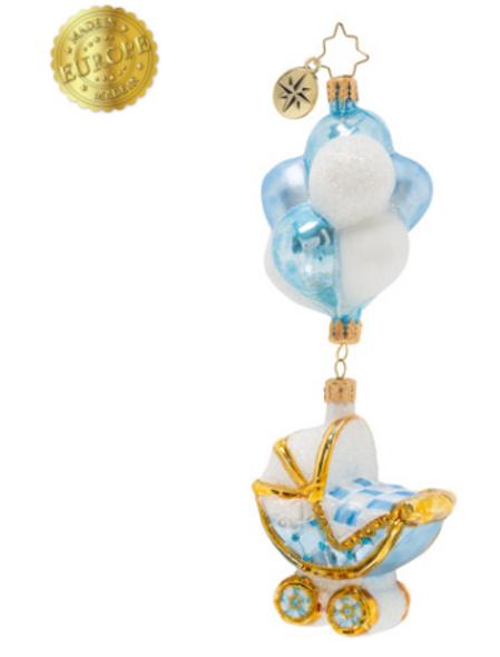 Baby Boy Buggy & Balloons.