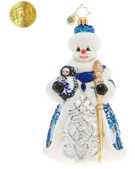 A DOLLED UP SNOWMAN.
