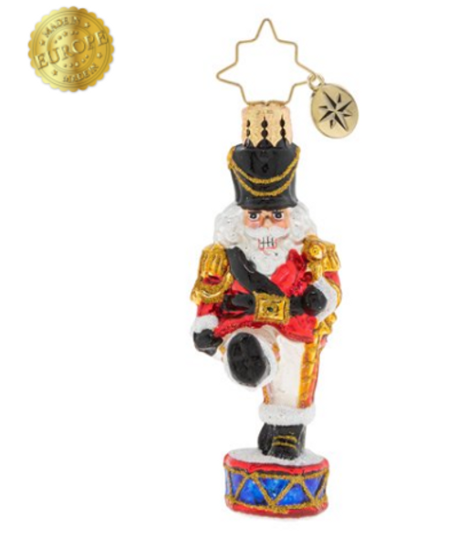 This nutcracker has got his marching orders! He doesn't miss a beat as he leads the North Pole parade.