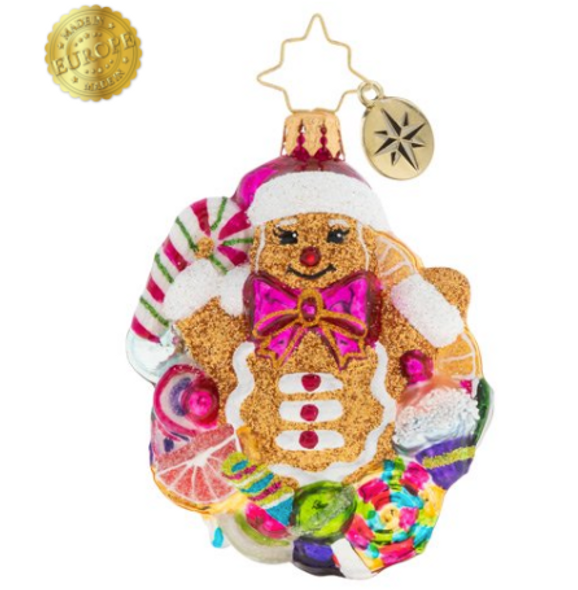 Surprise! The gingerbread man has arrived. And he's bursting with delight that Christmas is almost here.