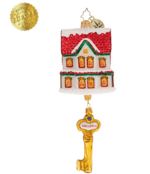 Celebrate the joys and excitement of getting the keys to your first house! This adorable keepsake is the perfect gift for the first-time home owner!