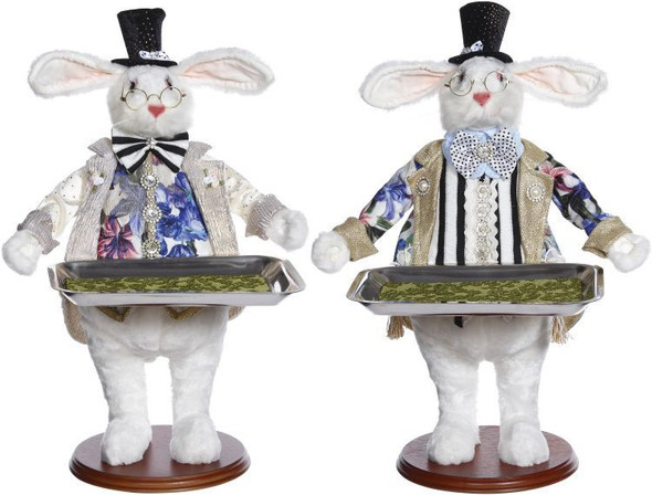 Rabbit with Tray Assortment of Two by Mark Roberts