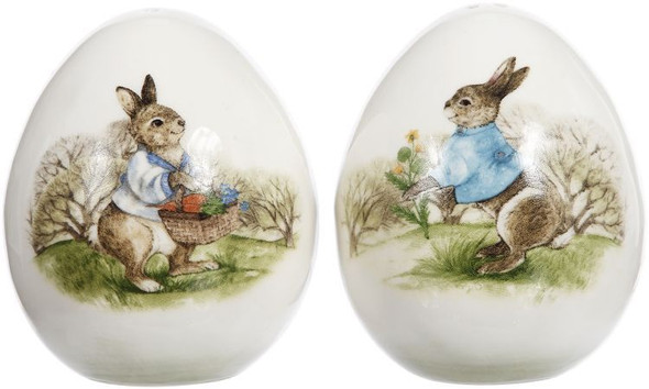 Rabbit Salt and Pepper Shakers by Mark Roberts