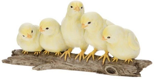 Adorable Chicks on Branch by Mark Roberts