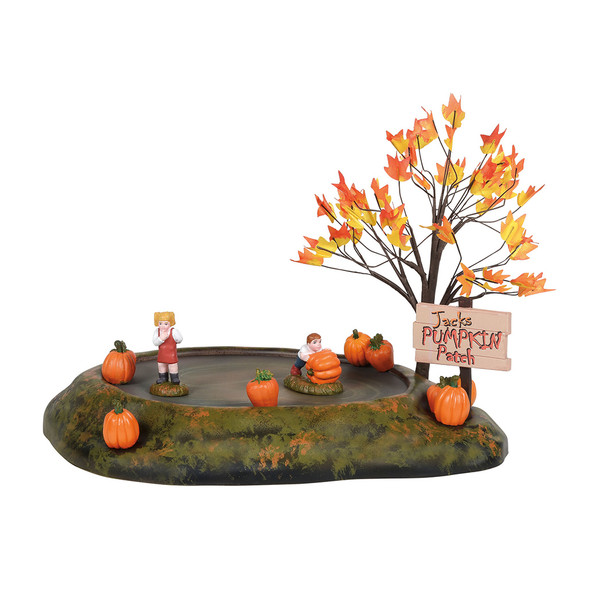 Animated table top features 2 kids making a huge decision on the pumpkin patch. This animated Village accessory is, hand-crafted, hand-painted, polyresin. Adapter cord included.