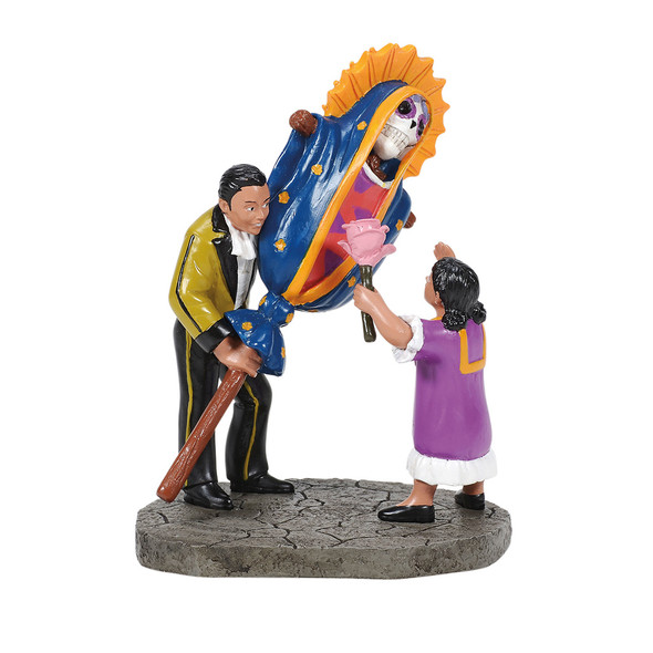 Our Lady of Guadalupe is the patron saint of Mexico. Traditional symbols make the Day of the Dead Parades even more festive.This Village accessory is hand-crafted, hand-painted, resin.