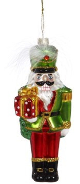 Nutcracker with Feather and Present Ornament by Mark Roberts