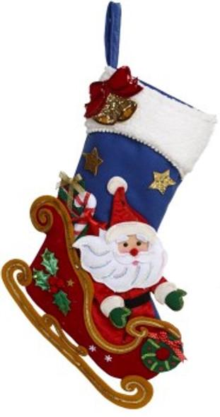 Santa Sleigh Stocking by Mark Roberts