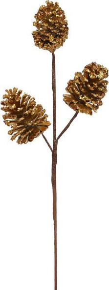 Gold Pinecone Pick by Mark Roberts