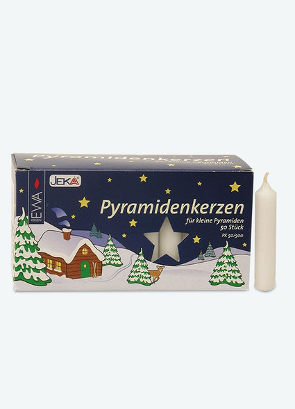 White Pyramid Candles by Mueller