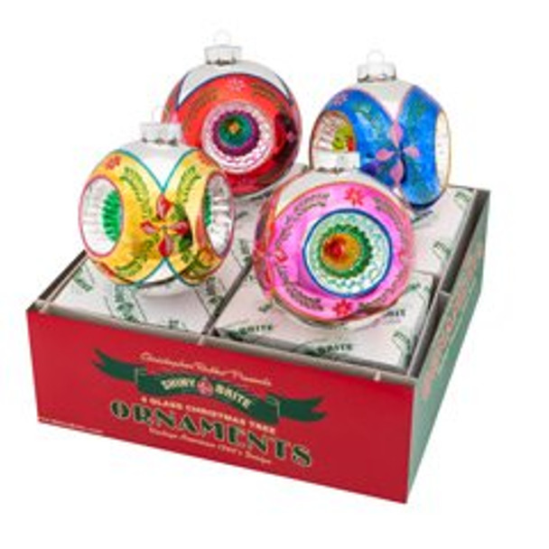 """Christmas Confetti 4 Count 4"""" Rounds With Triple Reflector."""