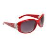 Rhinestone & Heart Accented Diamond Sunglasses DI510 Red