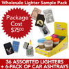 36 Lighters Package Deal SPL2 with 1 6-Pack Car Ashtrays