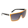 Unisex Sunglasses DE702 Black Arms with Orange Lens Trim