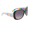 Women's Fashion Sunglasses DE81 Rainbow Patterned w/Green Interior Frame