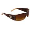 DE47 Wholesale Fashion Sunglasses Brown Duotone Frame Color