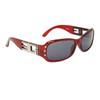 DE76 Designer Eyewear™ Sunglasses Transparent Red Frame