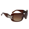 Diamond Eyewear™ Rhinestone Sunglasses DE109 Transparent Brown Frame