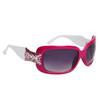 Diamond Eyewear™ Rhinestone Sunglasses DE109 Magenta & White Frame