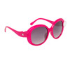 Cute Fashion Sunglasses 826 Magenta Frame w/White Button
