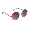 Round Sunglasses 819 Red Frame