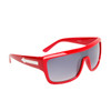 Single Piece Lens Unisex Sunglasses 6003 Red Frame