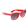 Polk-A-Dot California Classics Sunglasses 6014 Red Frame w/White Dots & Black Bow