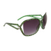 Large Frame Vintage Sunglasses 6018 Green Frame