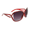 Large Frame Vintage Sunglasses 6018 Red Frame