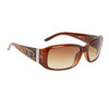 Women's Designer Sunglasses Brown Frame