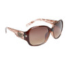 DE5003 Designer Sunglasses Brown Frame