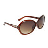 Rhinestone Sunglasses 6052 Brown Frame