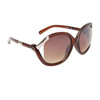 Vintage Sunglasses 6036 Transparent Brown Frame