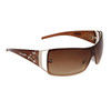 Women's Rhinestone Sunglasses DI135 Brown Frame
