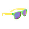Bulk California Classics Sunglasses - Style #828 Green/Yellow with Green Revo