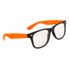 Clear Lens California Classics Sunglasses 8161 Black/Orange