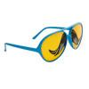 Mustache Glasses Wholesale - Style # 8037 Blue/Yellow