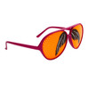 Mustache Glasses Wholesale - Style # 8037 Magenta/Orange