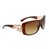 Wholesale Rhinestone Sunglasses - Diamond™ Eyewear - Style # DI143 Brown